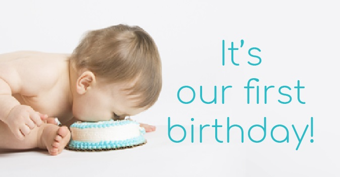 It's our 1st birthday!